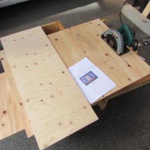 コンパネ作業台を作りました