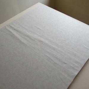 ふすま紙のテスト貼り