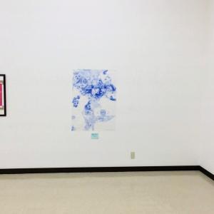 今日から松阪美術協会展。私は青のボールペン画を出品しました。