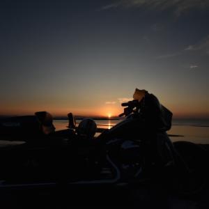 真玉海岸の夕陽^^