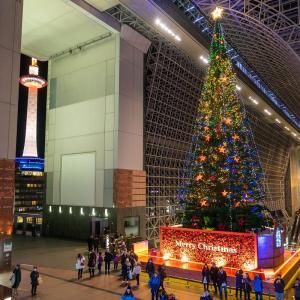 クリスマスなので京都駅ビル光のファンタジーとクリスマスツリー