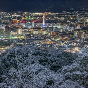 「将軍塚」京都タワーを中心に京都市内を一望できる夜景スポット