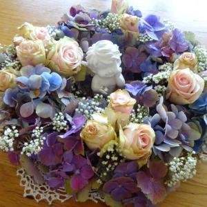 紫陽花と天使ちゃん♡