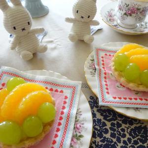 オレンジとマスカットのクリームパイ♡