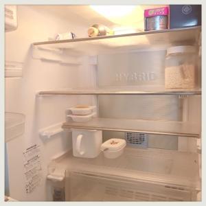 冷蔵庫が空っぽになりました。