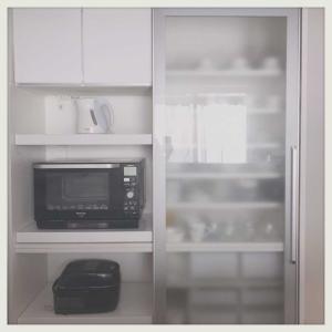 キッチン家電は黒が好き。