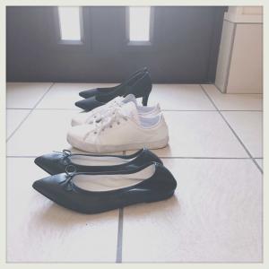 靴3足。全て雨対応にする。