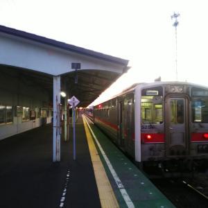 花咲線始発列車の朝は冷え込みました!