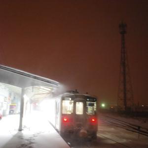 雪の積もった地球探索鉄道花咲線