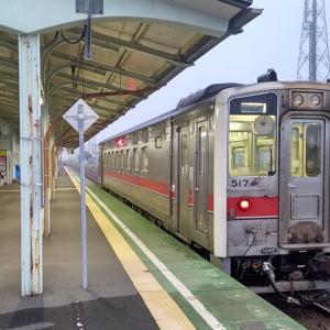 最東端の踏切を通過する花咲線根室行き終列車