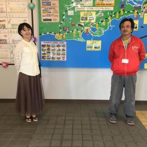 北海道観光大使の喜多島麻鈴さんが根室駅に寄って頂きました♪