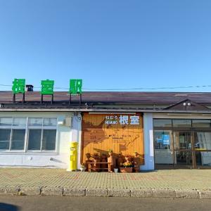 久々の青空な花咲線根室駅