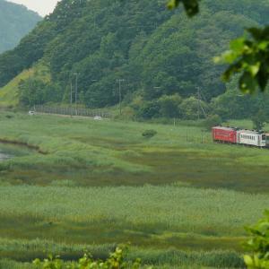 別寒辺牛湿原の花咲線紅白編成と春採祭り