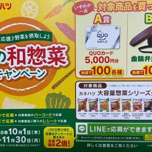 カネハツ秋の和惣菜キャンペーン 10月から