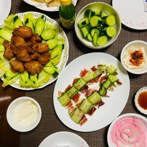 今日の夕食 イベリコ豚の生ハム