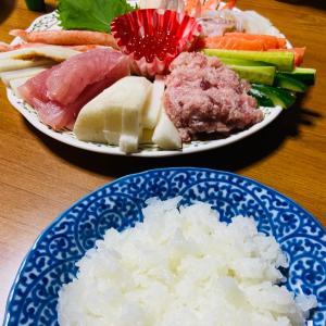 今日の夕食 手巻き寿司