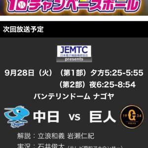 テレビ愛知10チャンベースボールプレゼント