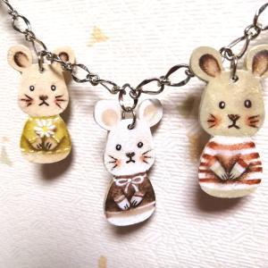 干支〜可愛いネズミちゃん3匹〜