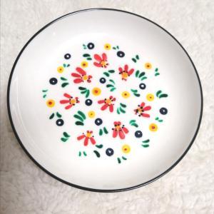 100均豆皿にペイント