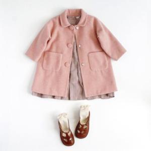 .  【 Round collar coat...