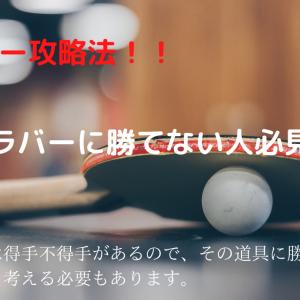 卓球 表ソフトラバーに勝つ方法!