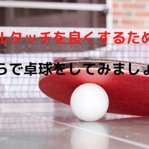 卓球 木べらでプレーしてみよう!ボールタッチが良くなるかも?