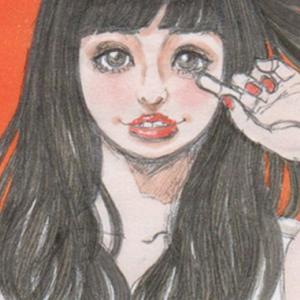 【女の子イラスト】猫耳ロングヘアとタンクトップ