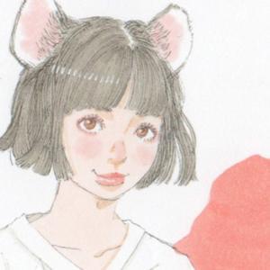 【女の子イラスト】猫耳とVネックTシャツ/イラストを描き続けるとイラストが上手くなるのか検証