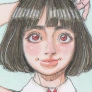 【女の子イラスト】うさ耳を触る女の子の修正/コピックで色を塗った後にシャーペンで補正する