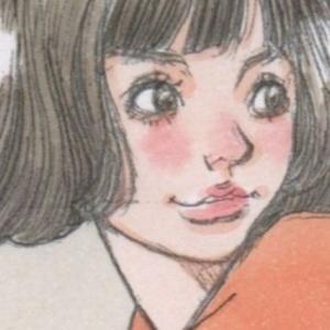 「猫耳の女の子」のアナログイラスト