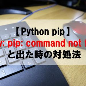 【Python pip】pyenv: pip: command not found と出た時の対処法