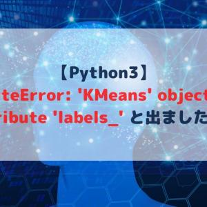 【Python3】AttributeError: 'KMeans' object has no attribute 'labels_' と出ましたが?