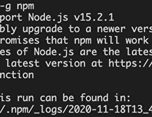 【npmが使えない】npm ERR! cb.apply is not a function【直し方】