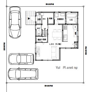 住宅間取り【2階建て・3LDK:床面積28坪 西道路】今回の間取り