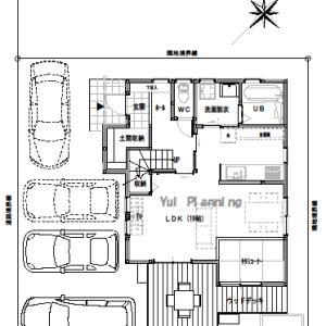間取り変更③土間収納のある家【2階建て・3LDK:床面積28坪 西道路】