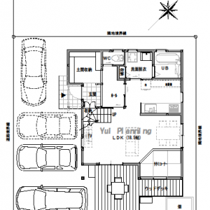 間取り変更④吹抜けリビングの家【2階建て・3LDK:床面積28坪 西道路】