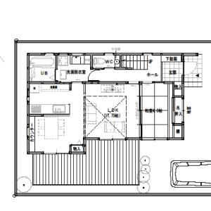 間取り変更④多人数でスポーツ観戦を楽しめる家【2階建て・4LDK:床面積32坪東道路】