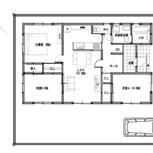 間取り変更①【平屋建て・3LDK:25坪東道路】家族構成の変化に対応する家