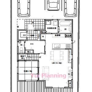 間取り変更④-4【2F建て・4LDK:32坪北道路】収納計画③水回り