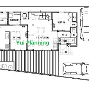 間取り変更③-4 収納計画2F『東西に長い家』【2F建て・4LDK:33坪東道路】