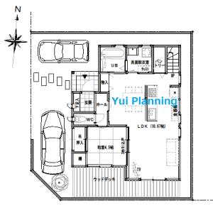 間取り変更②-4 収納計画③…『角地に建つ家』【2F建て・4LDK:33坪南西道路】