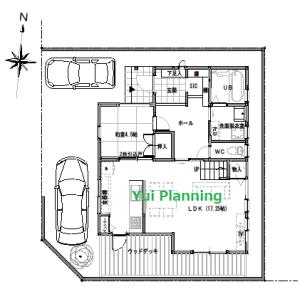 間取り変更③-3 収納計画②…『角地に建つ家』【2F建て・4LDK:33坪南西】