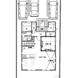 間取りまとめ0716②  32坪5LDK  住宅間口が3.5間の家