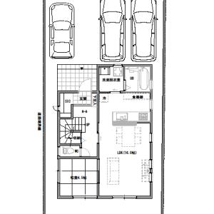 間取りまとめ0716①  32坪5LDK  住宅間口が3.5間の家
