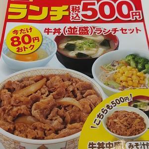 すき家「牛丼ランチ」(八戸市根城)  モコとココ