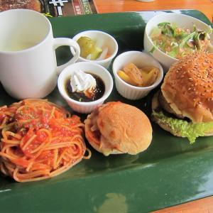 ノースネバーランド「ハンバーガーとパスタのセット」(八戸市下長 河原木団地)  モコとココ