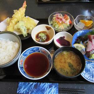 四季鮮「海鮮天ぷらとお刺身セット」(八戸市売市)  モコとココ