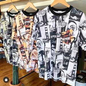 総柄アメリカンTシャツ