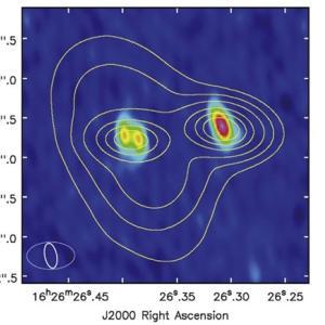 連星系誕生の謎に迫れるかも… 双子原始星から噴き出す不揃いな分子流から分かったこと。