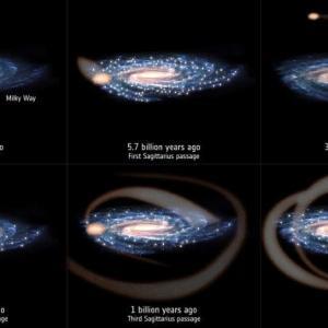 天の川銀河で3度も星の誕生が増えたのは矮小銀河の衝突が原因だった!? 太陽も誕生させた可能性ありです。
